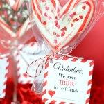 Candy Cane Lollipop Valentine