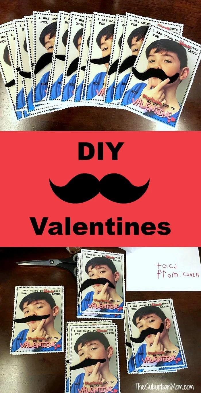 Mustache Valentines Cards