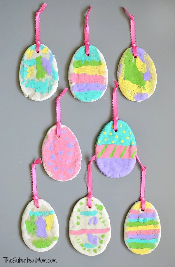 Salt Dough Easter Egg Ornaments