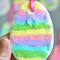 Scented Salt Dough Easter Egg Ornaments