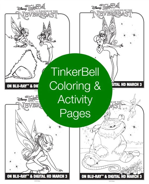TinkerBell Word Search And Coloring