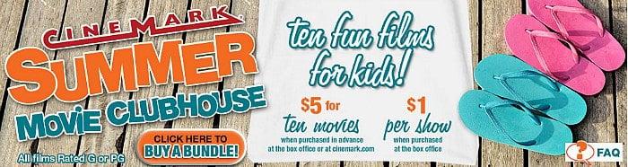 Cinemark Summer Movie Clubhouse 2015