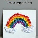 Rainbow Tissue Paper Craft