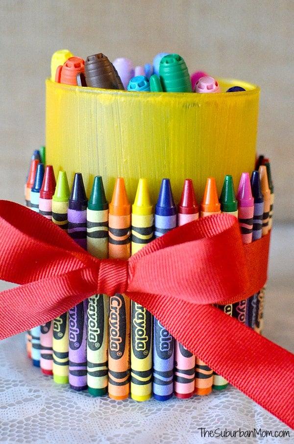 Crayon Pencil Holder Teacher Gift