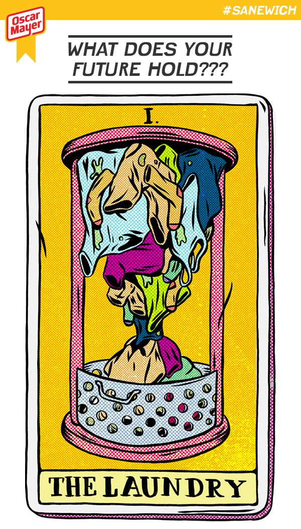 Oscar Mayer Sanewich Laundry Tarot Card
