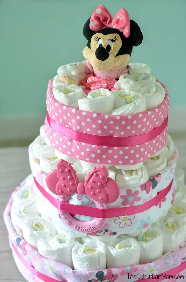Disney Minnie Mouse Diaper Cake