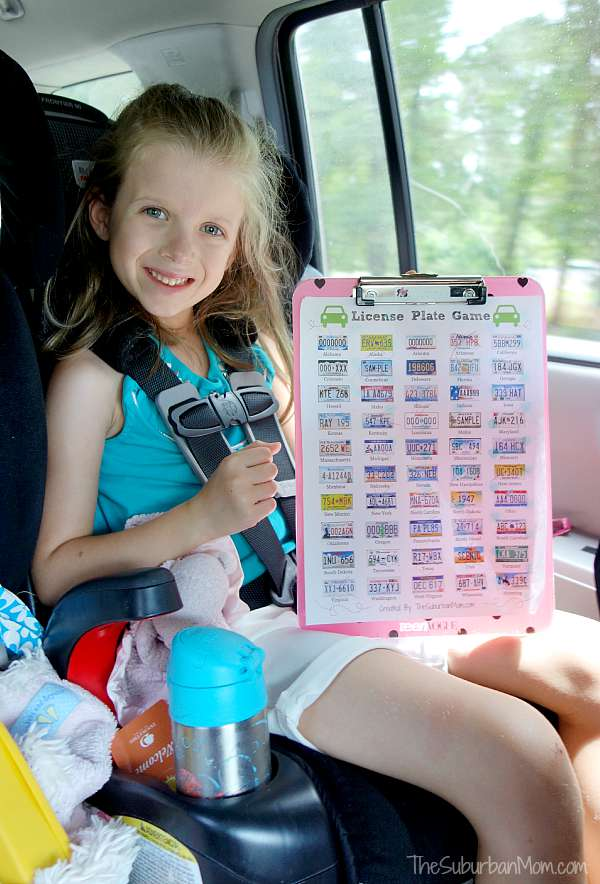 Printable License Plate Game