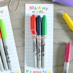 Sharpie Teachers Gift