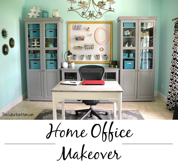 Tame Teal Home Office Makeover Tips