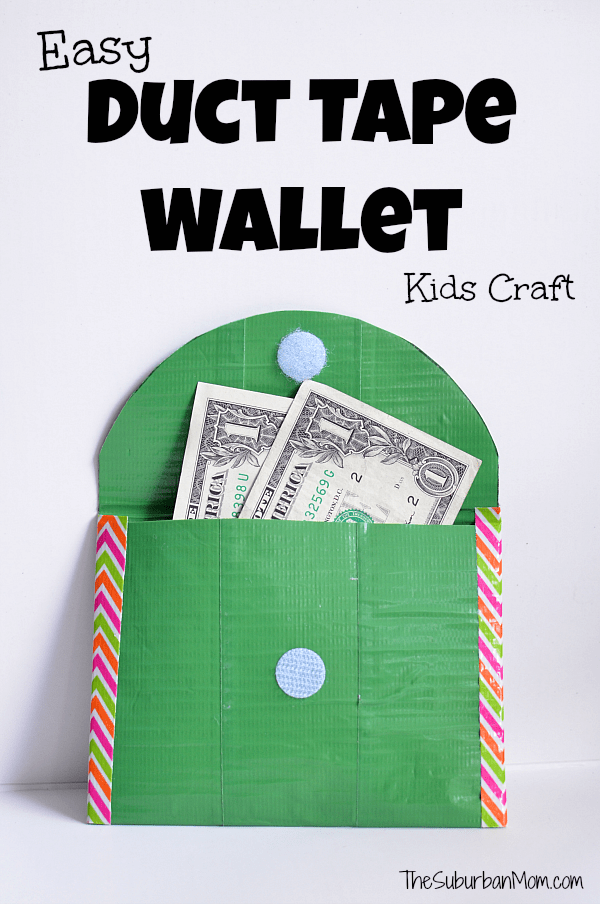 How To Make A Duct Tape Wallet Kids Craft