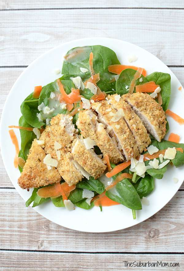 Parmesan and Herb Crusted Chicken Salad