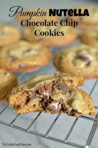 Pumpkin Nutella Chocolate Chip Cookies