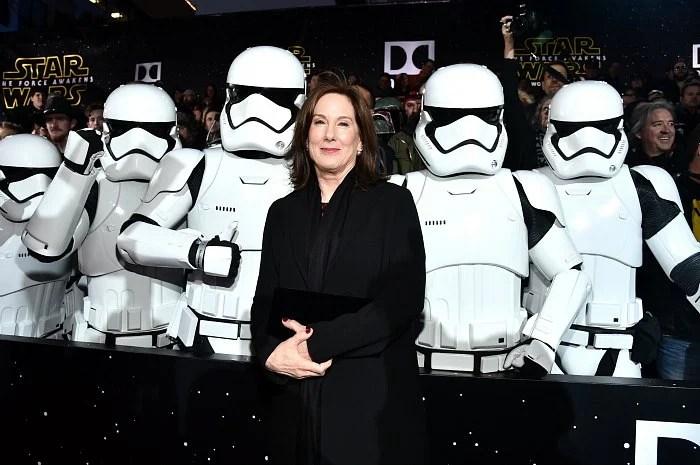 Kathleen Kennedy Star Wars The Force Awakens Red Carpet