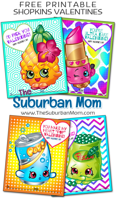 picture about Free Printable Shopkins called Free of charge Shopkins Valentines Printable Playing cards
