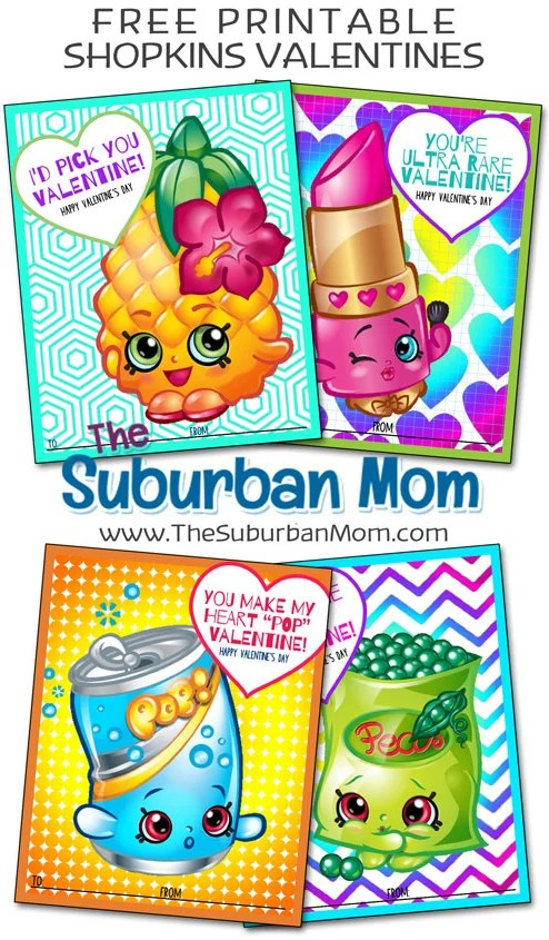 photograph regarding Printable Shopkins Pictures named Totally free Shopkins Valentines Printable Playing cards