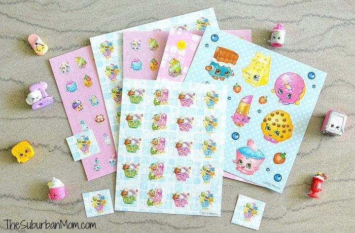 Shopkins Valentines Stickers