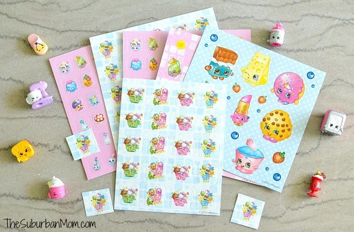 Shopkins Valentines Stickers