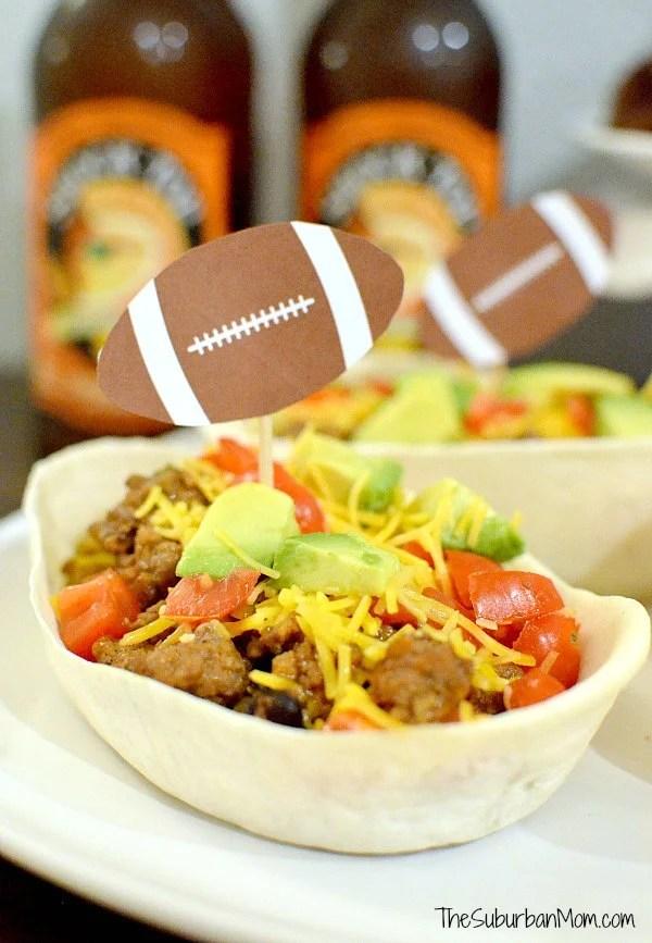Football Taco Bowls