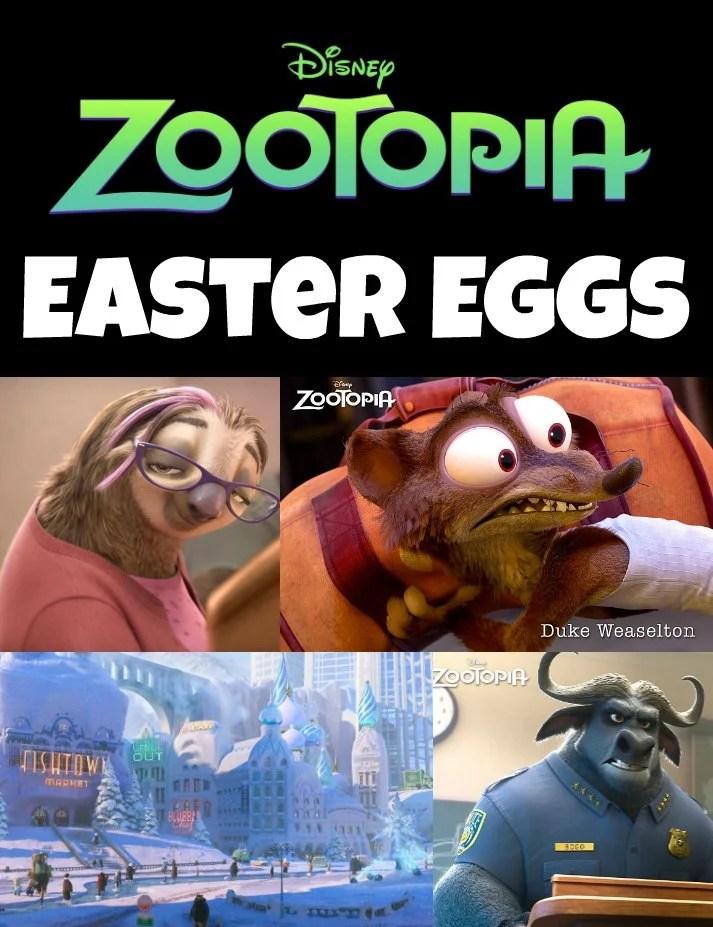 Disney Zootopia Easter Eggs