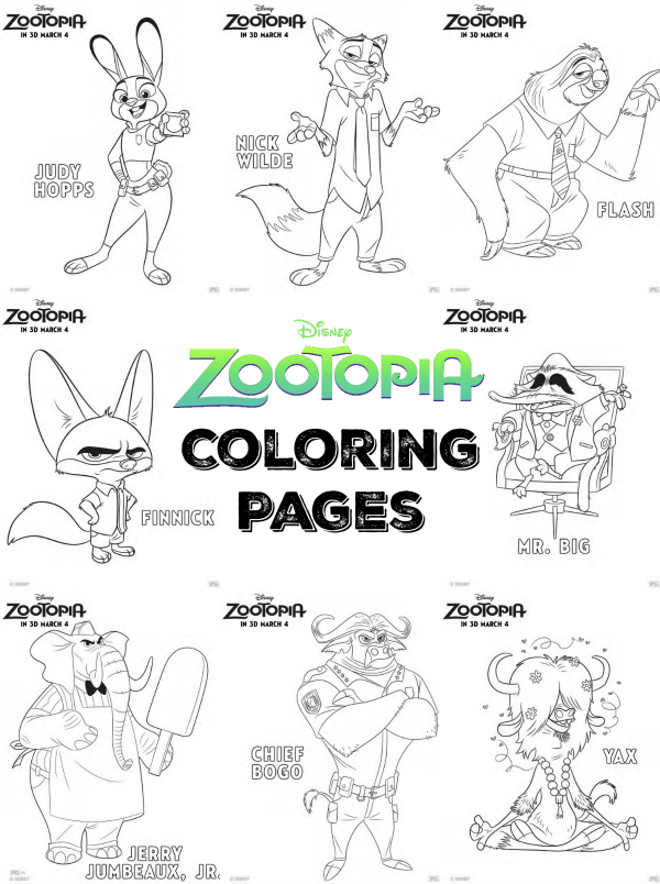 Creating 1 000 Creatures For Zootopia Zootopia Coloring Pages