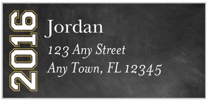 Class of 2016 Return Address