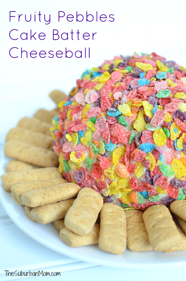 Fruity Pebbles Cake Batter Cheeseball