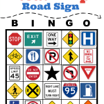 Road Trip Road Sign Bingo Printable