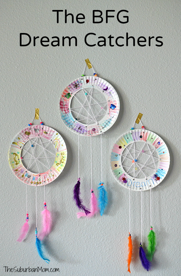 The BFG Paper Plate Dream Catchers Craft  sc 1 st  The Suburban Mom & The BFG Paper Plate Dream Catchers Kids Craft The Suburban Mom