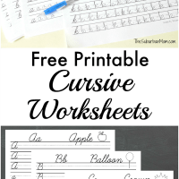 Free Printable Cursive Worksheets + Writing Prompts