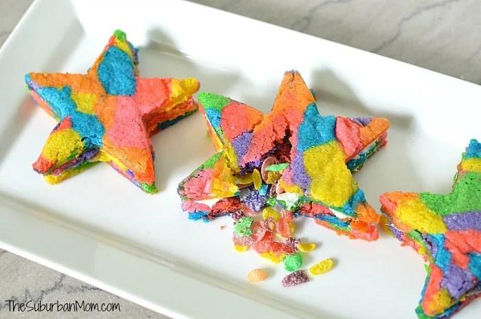Fruity Pebbles Pinata Cookies