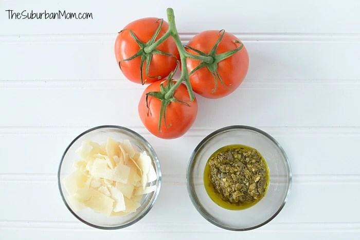 Pesto Parmesan Baked Tomatoes Ingredients