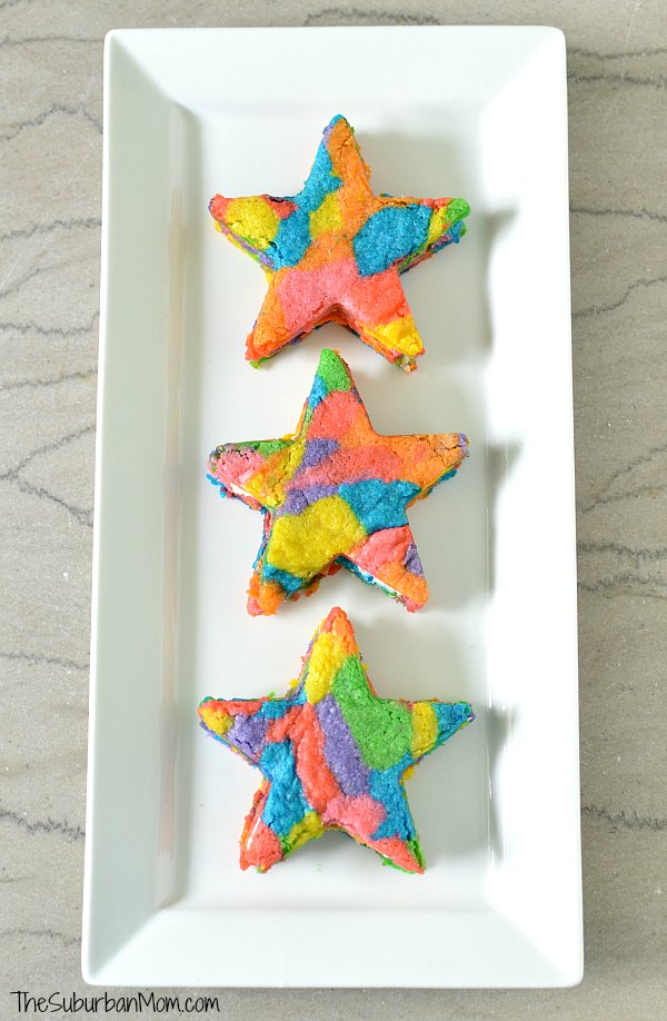 Rainbow Star Cookies