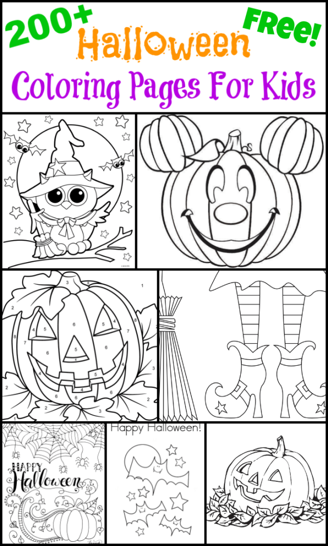 25+ Free Halloween Coloring Pages For Kids - The Suburban Mom