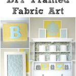 DIY Framed Fabric Art