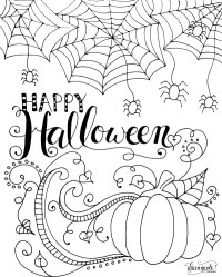 halloween town coloring pages