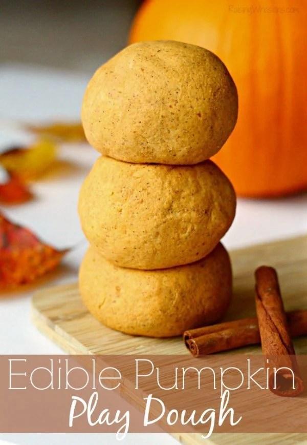 Edible Pumpkin Play Dough