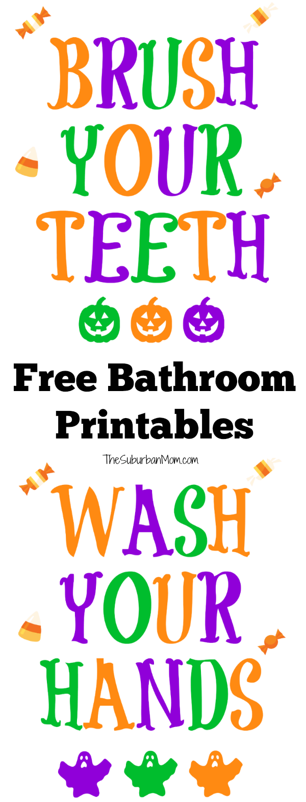 graphic relating to Eat More Chicken Printable Sign titled 31 Absolutely free Halloween Printables - TheSuburbanMom