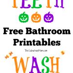 Halloween Bathroom Signs Printables