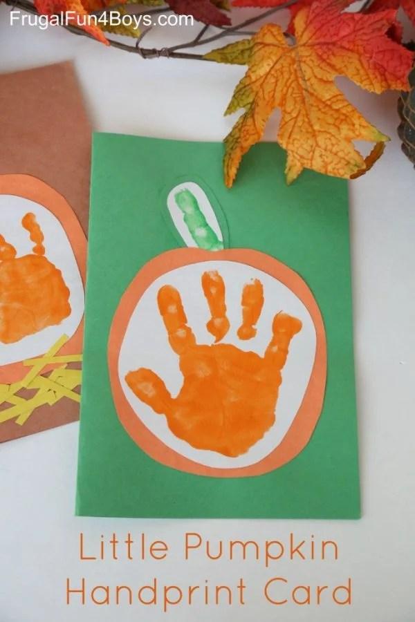 Handprint Pumpkin
