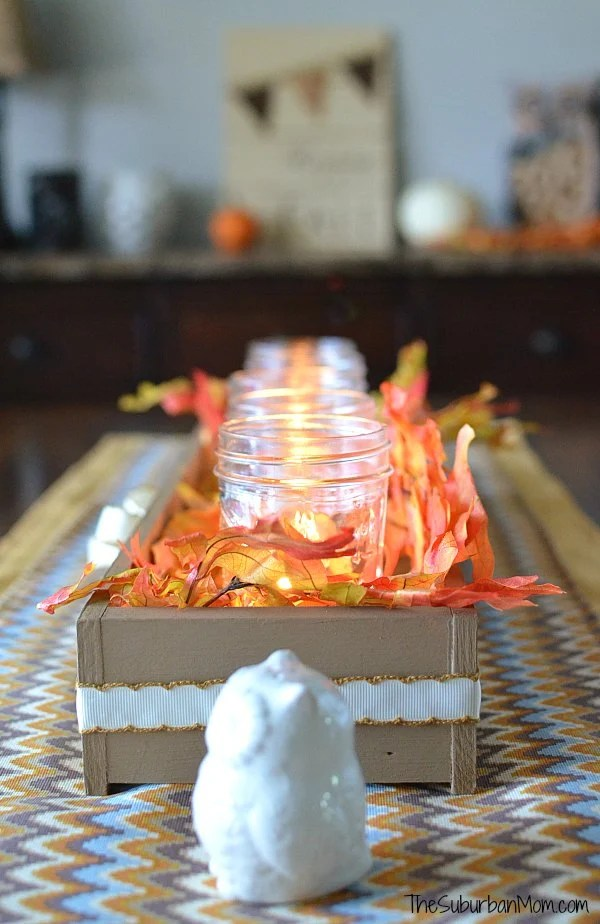 Fall Table Runner Thanksgiving Centerpiece Tutorial The