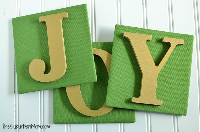 Joy Christmas Sign Tutorial