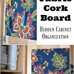 DIY Fabric Cork Board