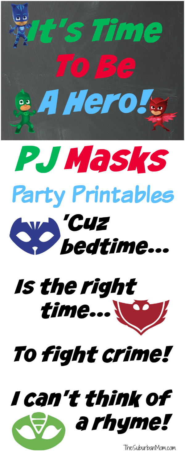 photograph relating to Pj Masks Printable Images titled PJ Masks Birthday Bash Strategies And Totally free Printables - The