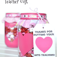 Valentine's Day Gift For Teachers And Printable Gift Tag