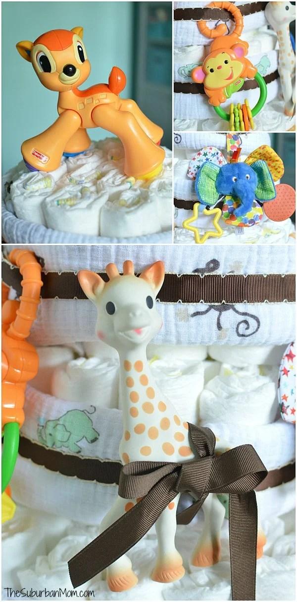 Jungle Diaper Cake Ideas
