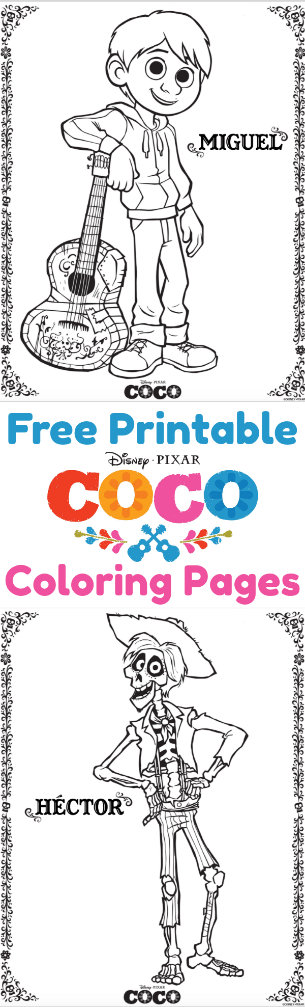 Free Printable Coco Coloring Pages Activity Pages And Movie Review