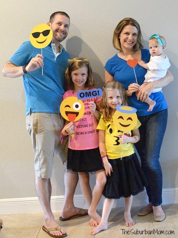 Emoji Party Family Photo