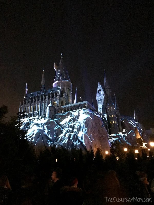 Hogwarts Castle Snow Universal Orlando