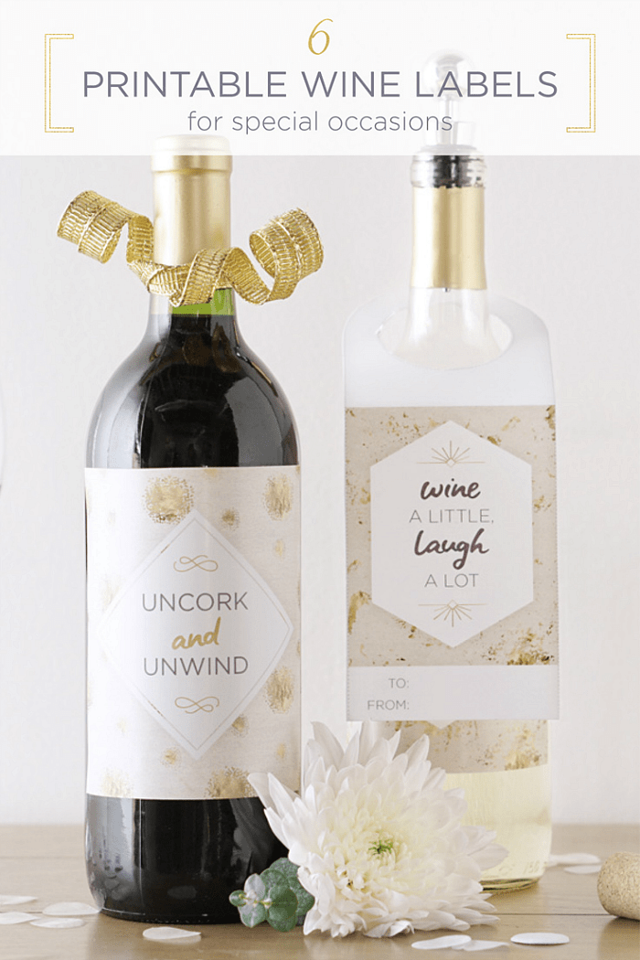 photograph about Printable Wine Bottle Label titled 6 Absolutely free Printable Wine Tags For Any Bash - The Suburban Mother