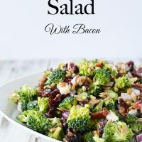 Cold Broccoli Salad Recipe With Bacon